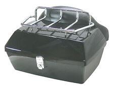 Baul rigido para moto custom de 48 litros color negro brillo --ENVIO GRATIS--