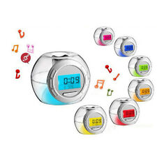 Nature Sound 7 Color Light Changing Digital Thermometer Snooze Apple Alarm Clock
