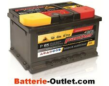 Autobatterie Starterbatterie Panther Black Edition +30% P65T 12V 65Ah 570A