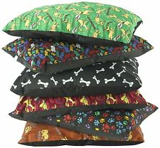 Extra Large Pet Cushion Crumb Fill, 120cm  x 75 cm, Assorted Designs