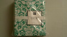 Pottery Barn Teen Decorator Damask Sheet Set Queen Pool NIP