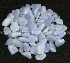 5 x Blue Lace Agate Large Tumblestones 25mm to 30mm A Grade Crystal Wholesale