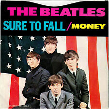 BEATLES-DECCAGONE 1104-SURE TO FALL/MONEY W/PICTURE SLEEVE-CLEAR WAX