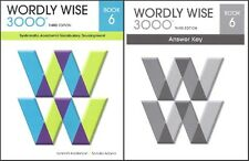 Wordly Wise 3000 Grade 6 SET -- Student and Key NEW  *3rd edition*