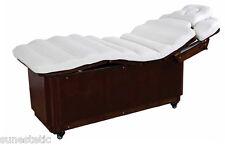 Lettino massaggio in legno colore wengè regolabile estetica spa centri benessere