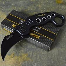 TAC-FORCE Speedster Rescue Grey Karambit Folding Spring Assisted Pocket Knife