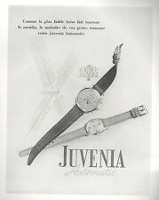 ▬► PUBLICITE ADVERTISING AD MONTRE WATCH JUVENIA Automatic 1948