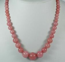 6-14mm Exquisite Pink Rhodochrosite Round Bead Gemstone Jewelry Necklace