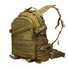 Tactical Molle Backpack Airsoft Military Rucksack Bag with Hydration System Tan