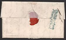 1835 cornwall entire / letter with blue Callington penny post & No1 in black