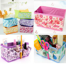 Organizer box makeup Cosmetic Storage Box Bag Foldable Stationary Container