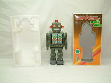 Vintage ME 100 Space Walk Man Robot Tin Battery Operated New in Box China- WORKS
