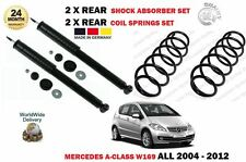 FOR MERCEDES A CLASS ALL W169 2004-  2X REAR SHOCK ABSORBER SET + 2X COIL SPRING