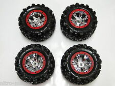 NEW TRAXXAS SUMMIT 1/10 Wheels & Tires Red Geode RM31R