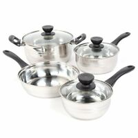 Cookware Set Pots And Pans Stainless Steel 7 Piece Cooking Kitchen NEW