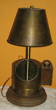 Vtg Ships Binnacle Compass Converted to Electric Nautical Maritime Table Lamp
