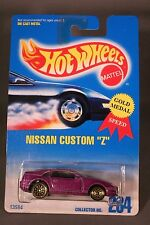 "Vintage 1991 Hot Wheels Nisson Custom ""Z"" Gold Metal Speed  New in Blister Pack"