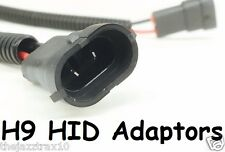 1 pr Adaptors for H9 HID Globes Bulbs - Plug ballasts into Car's H9 globe socket