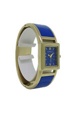 Caravelle New York 44L146 Women's Analog Dark Blue Gold Tone Bangle Watch
