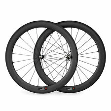 700C 50mm Clincher Straight Pull Wheels Road Bike Carbon Racing Wheelset