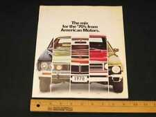 1970 AMC Full Line Prestige Catalog Sales Brochure CDN