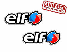 2 Elf Huile Race Voiture Renault Autocollants Auto Moto GP Vinyle Stickers Sport
