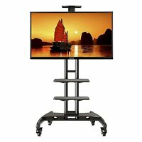 TV Stand Mobile Cart Mount Wheels