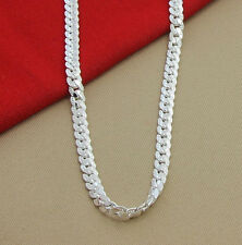 Men & Women Fashion 925 Sterling Silver Necklace Chain Jewelry 5mm Free Shipping