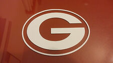 Green Bay Packers 5 x 5 White Car Decal Sticker