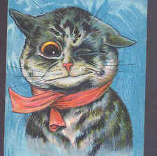 "MINT..! LOUIS WAIN..CHAGRINED CAT WITH BLACK EYE ""I'VE HAD MINE"" OLD POSTCARD"