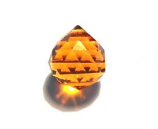 30mm Amber Feng Shui Crystal Ball Prism Wholesale Feng Shui CCI