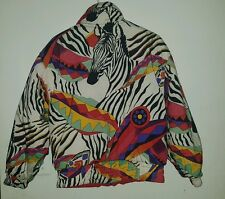 VINTAGE Tyrolia Reversable Womens SML Zebra Skiwear Jacket Feature Key D-Ring