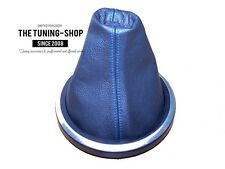 FOR FORD FIESTA MK6 FUSION 02-08 LEATHER GEAR GAITER SHIFT BOOT BLUE STITCH