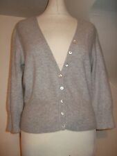 LADIES M&S MARKS & SPENCER AUTOGRAPH GREY 100% CASHMERE SHORT CARDIGAN 14