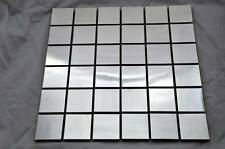 STAINLESS STEEL SQUARE MOSAIC TILE in BRUSHED finish-Wall backsplash METAL TILES