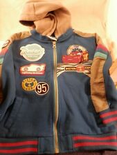 Disney Lightening McQueen Cars hooded jacket  size 4  Disney Store