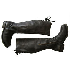 Bed Stu Bed Stu Black Lux Manchester Tall Lace Back Riding Boots 9