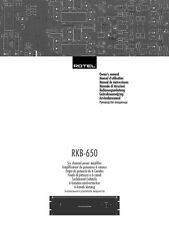 Rotel RKB-650 Amplifier Owners Manual