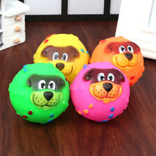 New Pet Dog Giggle Ball Tough Treat Training Chew Sound Activity Toy Squeaky