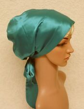 Satin bonnet for long hair, head snood, sleeping cap, satin hair wrap, tichel