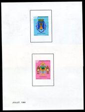 SENEGAL 1969 401-402 WAPPEN EPREUVE de LUXE in BLOCKFORM(J3547