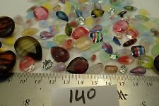 140 Vtg Glass GIVRE Rhinestone Lot Striped & Rare Jewelry Craft Repair a Juliana