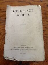Vintage Scout Booklet SONGS FOR SCOUTS The Boy Scout Association