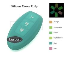 Neon Glow Silicone Cover fit for NISSAN Smart Remote Key Case 3 B 6C Neon BL