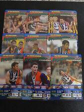 2003 AFL TEAMCOACH BLUE PRIZE TEAM SET FREMANTLE 9 CARDS