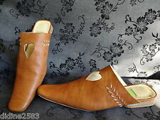 MARITHE FRANCOIS GIRBAUD CHAUSSURE CHAUSSON MULE FEMME CUIR MARRON US 4  pt 36