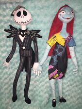 NEW Nightmare Before Christmas JACK Skellington AND SALLY Poseable Plush 26""