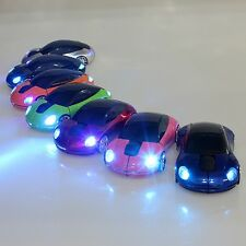 2.4GHz Wireless 3D 1600DPI Porsche Car Shape Light Usb Optical Mouse 7 Colors