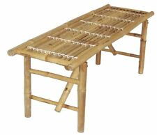 NEW Folding Bamboo Bench or Plant Stand Table Seating Furniture Holds 400 lbs.