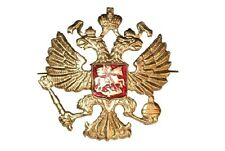 LARGE USSR ARMY BADGE Imperial Eagle Military Russian beret Soviet cossack pin